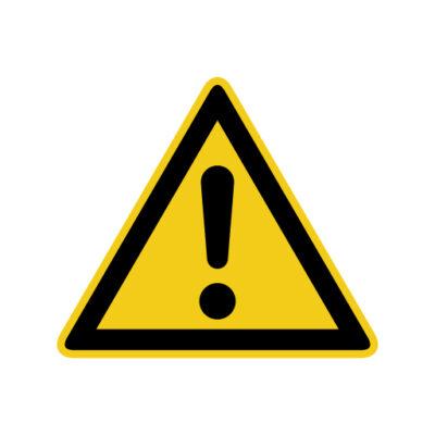 Waarschuwing Algemeen - waarschuwingssticker