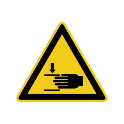 Waarschuwing Handletsel - waarschuwingssticker