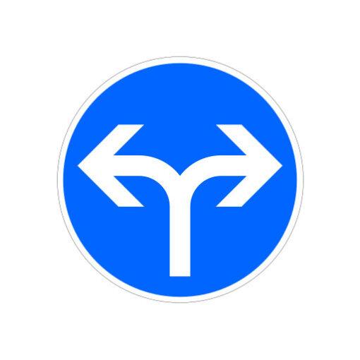 Volg Rijrichting Links Rechts - verkeersbordsticker