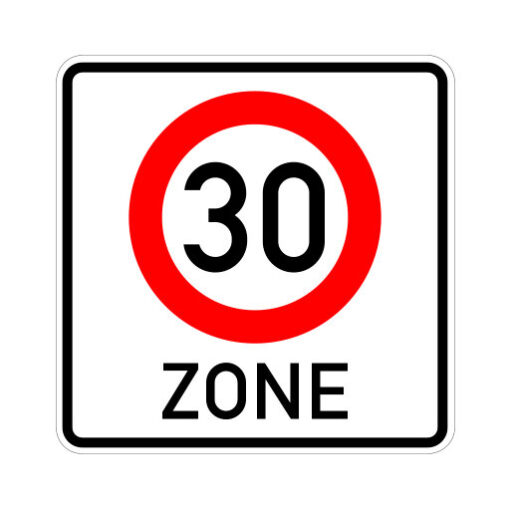 Begin Zone Maximum Snelheid 30 Km Per Uur - verkeersbordsticker