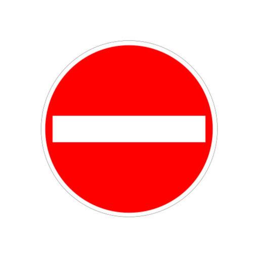 Eenrichtingsweg - verkeersbordsticker
