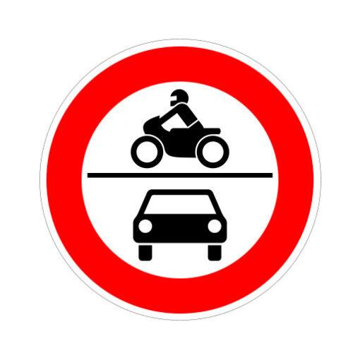 Gesloten Voor Alle Motorvoertuigen - verkeersbordsticker