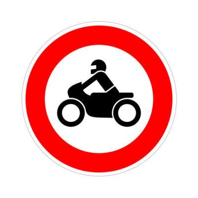 Gesloten Voor Motorfietsen - verkeersbordsticker