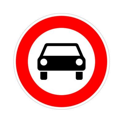 Gesloten Voor Motorvoertuigen - verkeeersbordsticker