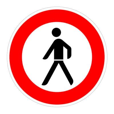 Gesloten Voor Voetgangers - verkeersbordsticker