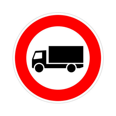 Gesloten Voor Vrachtverkeer - verkeersbordsticker