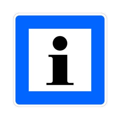 Informatiebord - verkeersbordsticker