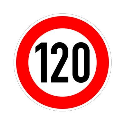 Maximum Snelheid 120 Km Per Uur - verkeersbordsticker