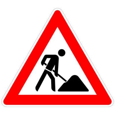 Opletten Wegwerkzaamheden - verkeersbordsticker