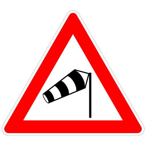 Opletten Zijwind - verkeersbordsticker