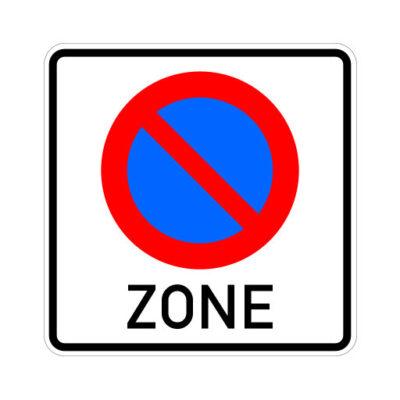 Start Parkeerzone - verkeersbordsticker