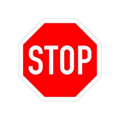 Stop, Verleen Voorrang Aan Alle Bestuurders - verkeersbordsticker
