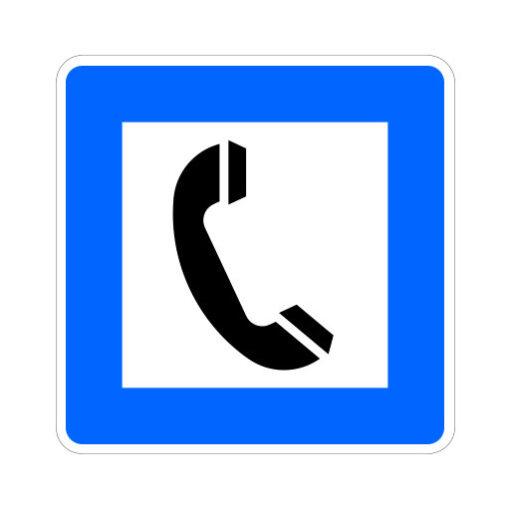 Telefoon Aanwezig - verkeersbordsticker