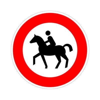 Verboden Voor Ruiters - verkeersbordsticker