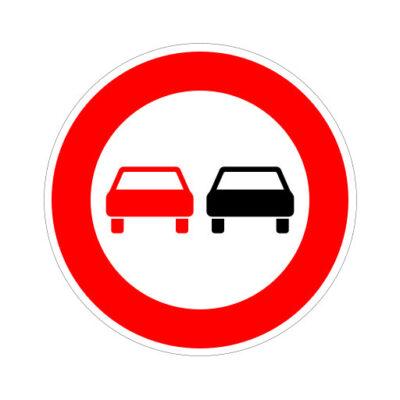 Voertuigen Verboden In Te Halen verkeersbordsticker