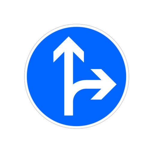 Volg Aangegeven Rijrichting - verkeersbordsticker
