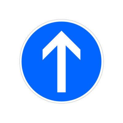 Volg Rijrichting Rechtdoor - verkeersbordsticker