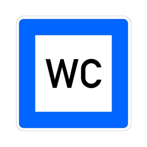 Wc Aanwezig - verkeersbordsticker