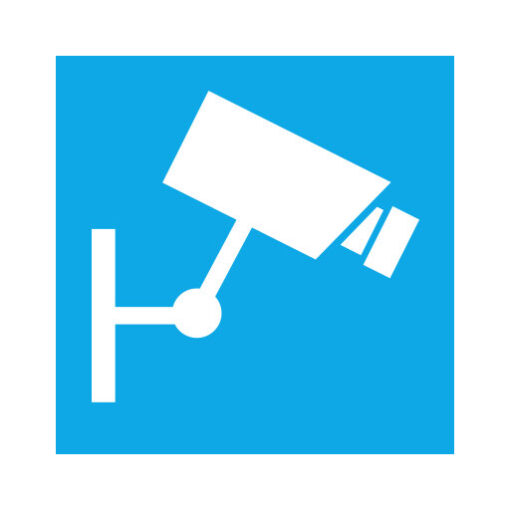 Camera Bewaking blauw - buurtpreventiesticker