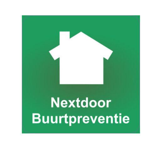 Nextdoor Buurtpreventie - buurtpreventiesticker