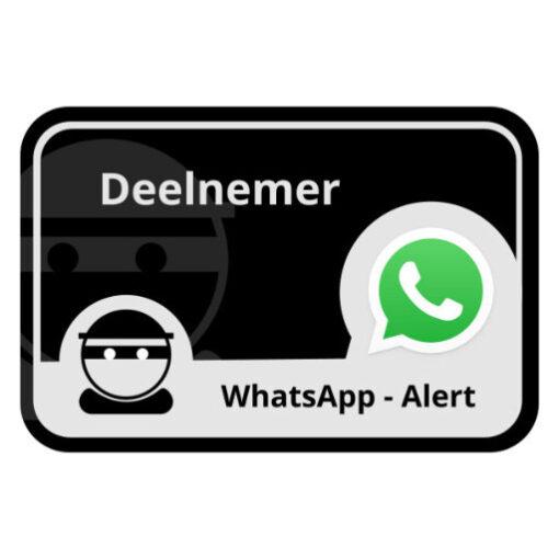 WhatsApp Alert onder - buurtpreventiesticker