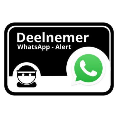 WhatsApp Alert boven - buurtpreventiesticker