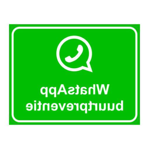 Whatsapp Buurtpreventie - gespiegeld