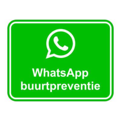 WhatsApp Buurtpreventie normaal - keuringssticker