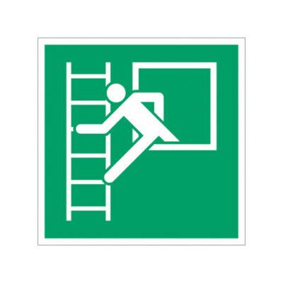 Ehbo Nooduitgang Ladder - wegwijzersticker