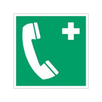 Ehbo Telefoon Aanwezig - wegwijzersticker