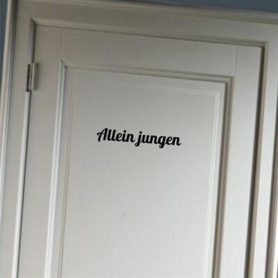Allein Jungen - deursticker