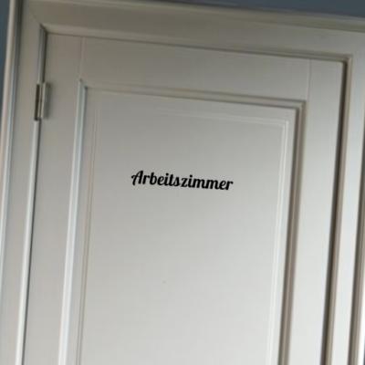 Arbeitszimmer - deursticker