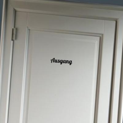 Ausgang- deursticker