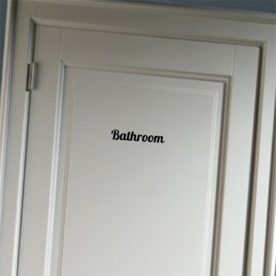 Bathroom - deursticker
