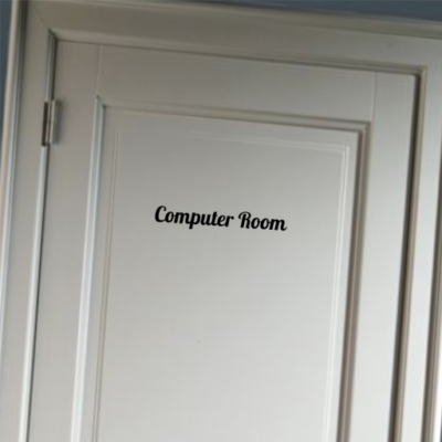 Computer Room - deursticker
