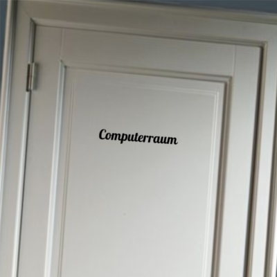 Computerraum - deursticker