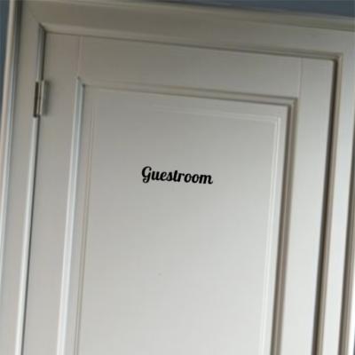 Guestroom - deursticker