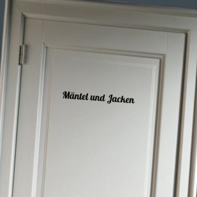 Mantel Und Jacken - deursticker