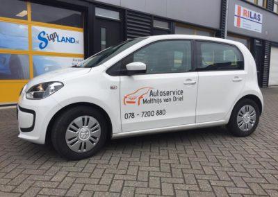 Autobelettering Autoservice Matthijs van Driel