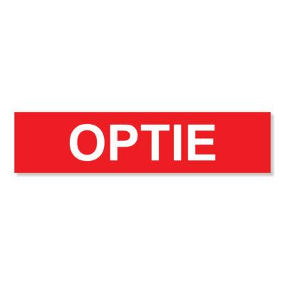 Optie - makelaarssticker