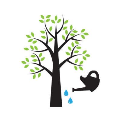 Onderhoud natuur buiten - recyclesticker