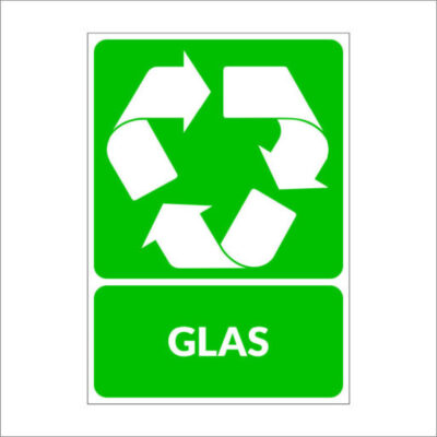 Glas - recyclesticker