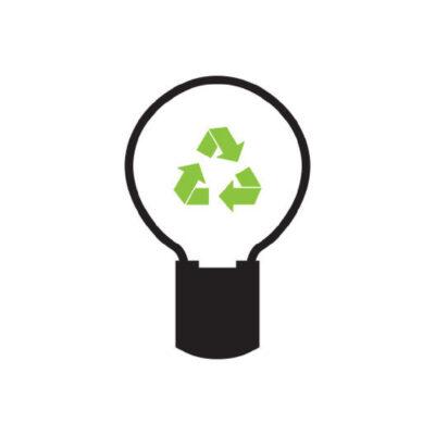 Gloeilampen - recyclesticker