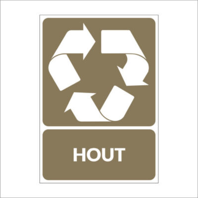 Hout - recyclesticker