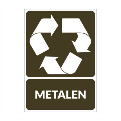 Metalen - recyclesticker