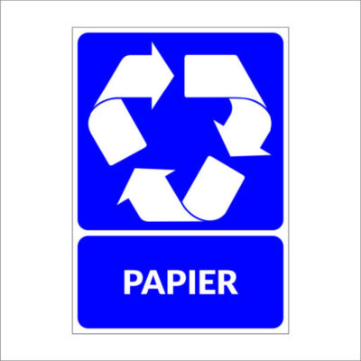 Papier - recyclesticker