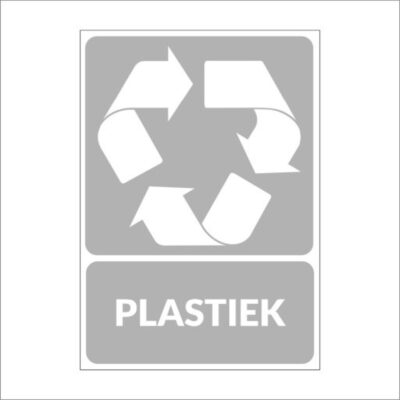 Plastiek - recyclesticker