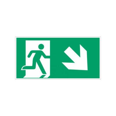 Nooduitgang rechts naar beneden