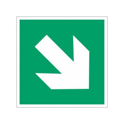 Nooduitgang rechtsaf naar beneden