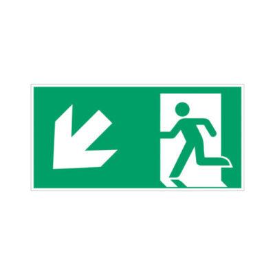 Nooduitgang links naar beneden